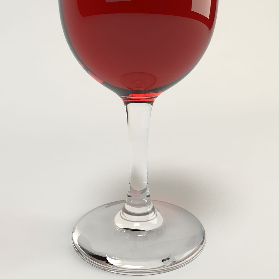 와인 한 잔 royalty-free 3d model - Preview no. 8