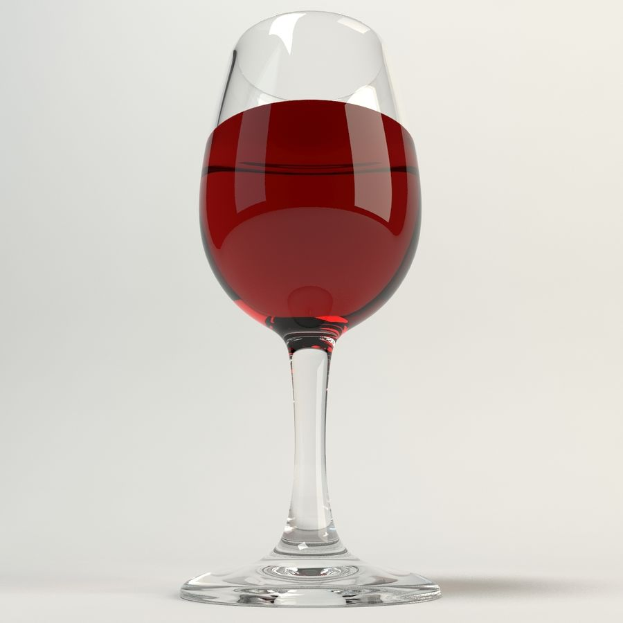 Glass Of Wine royalty-free 3d model - Preview no. 9
