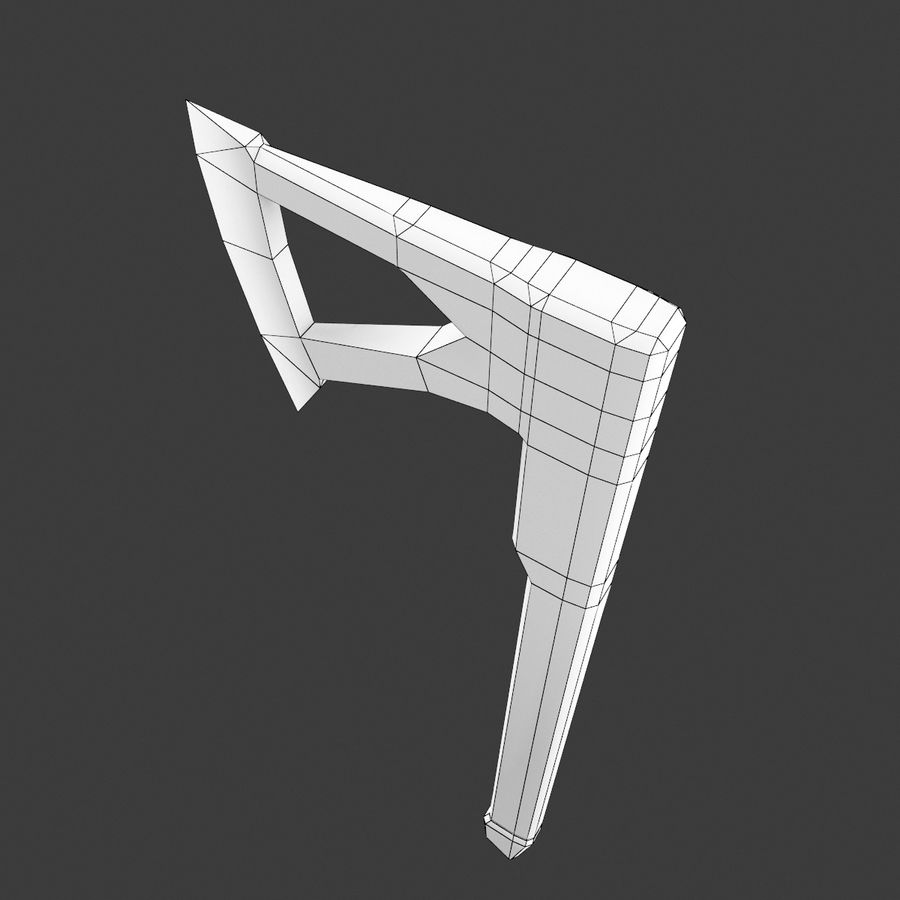 ドワーフのバトルアックス royalty-free 3d model - Preview no. 7