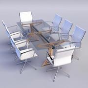Table de réunion et chaises 3d model