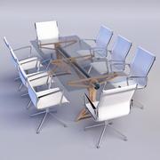 Stół konferencyjny i krzesła 3d model