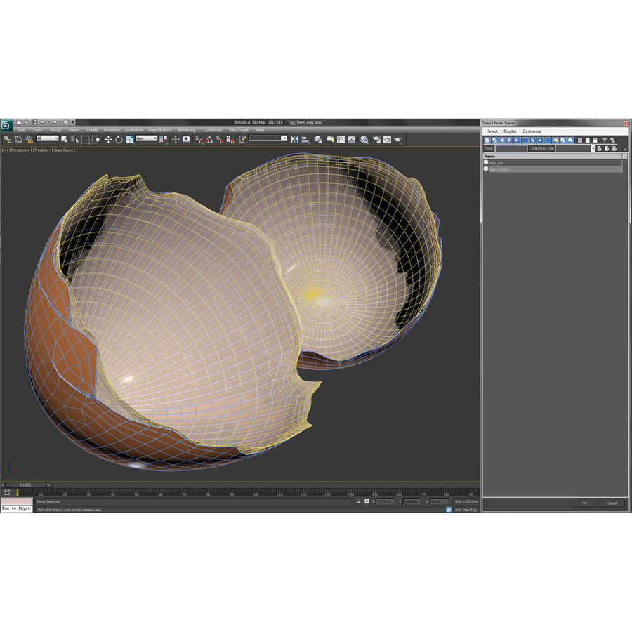 Coquille d'oeuf royalty-free 3d model - Preview no. 30