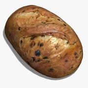Cheddar & Jalapeno-Brot 3d model