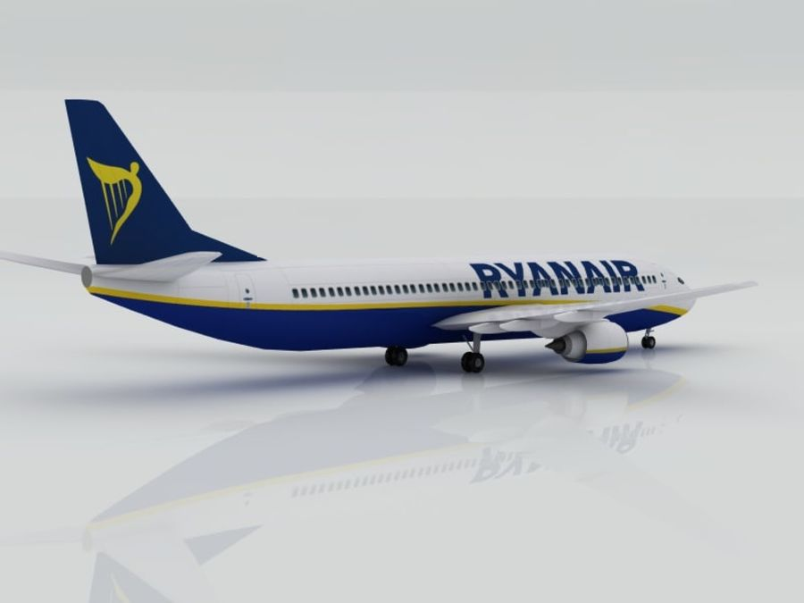 Boeing 737-800 Ryanair royalty-free 3d model - Preview no. 3