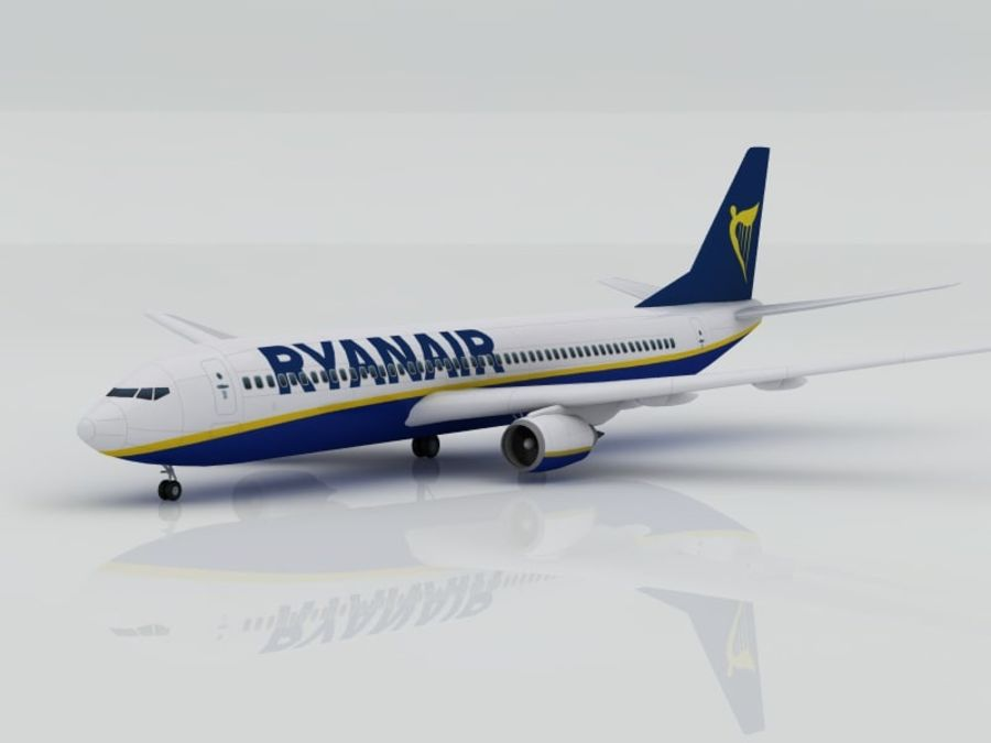 Boeing 737-800 Ryanair royalty-free 3d model - Preview no. 2