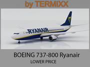 Boeing 737-800 Ryanair 3d model