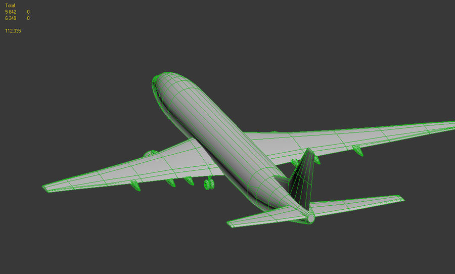 Boeing 737-800 Ryanair royalty-free 3d model - Preview no. 8