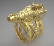 3D-tryckbar krokodilskallering 3d model
