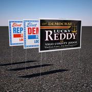Политический Двор Знак 3d model