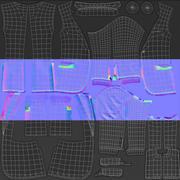 Men Jacket Real-time Polygonal 3d model