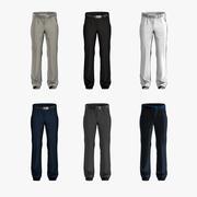 Pantalones de hombre en tiempo real poligonal modelo 3d