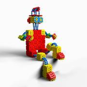 waffle blocks robot 3d model