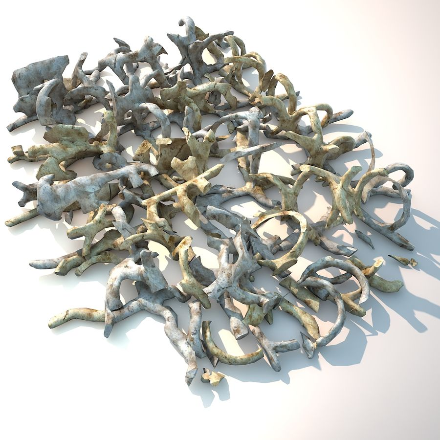 Animal Creature Bone Fragments royalty-free 3d model - Preview no. 4