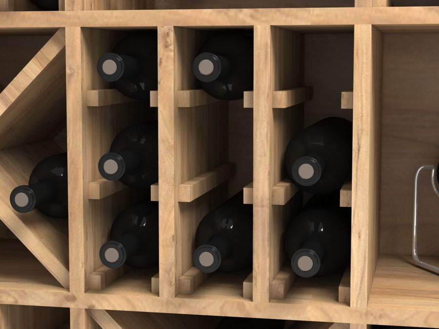 Scaffale del vino royalty-free 3d model - Preview no. 4