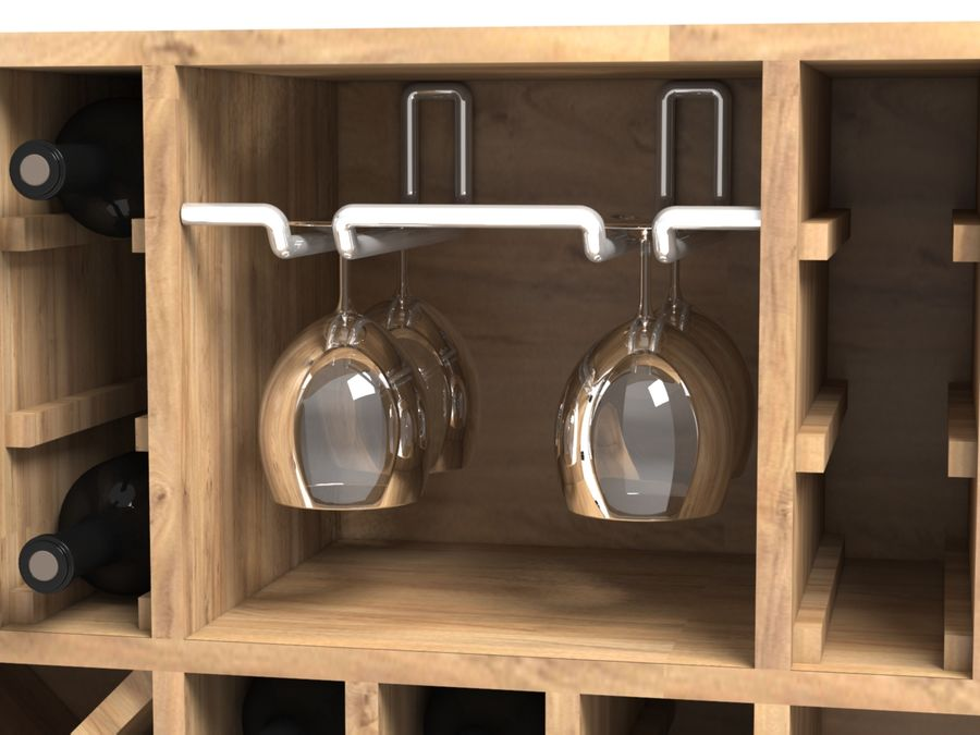 Scaffale del vino royalty-free 3d model - Preview no. 5