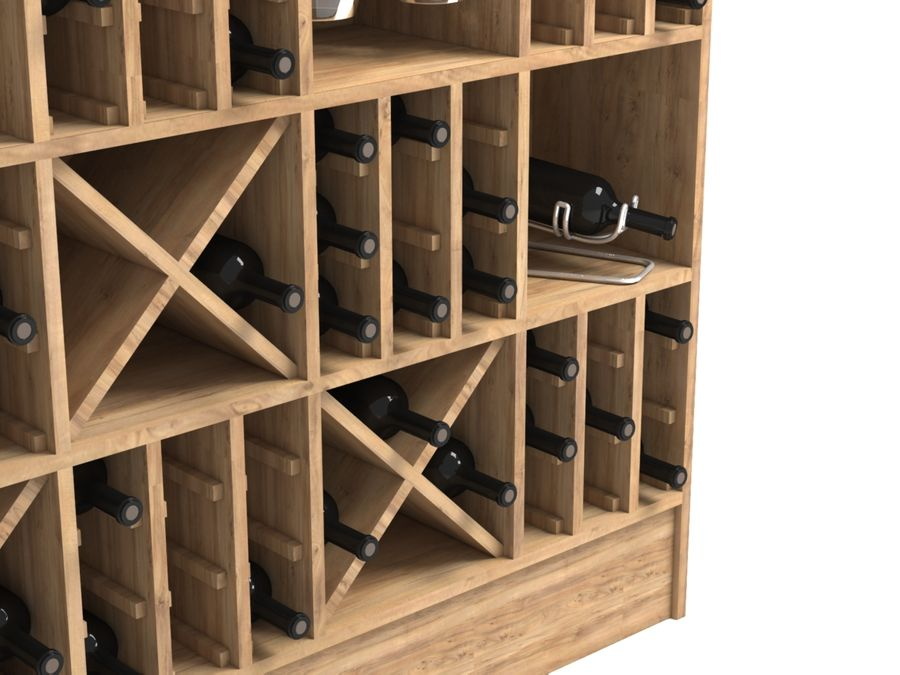 Scaffale del vino royalty-free 3d model - Preview no. 8
