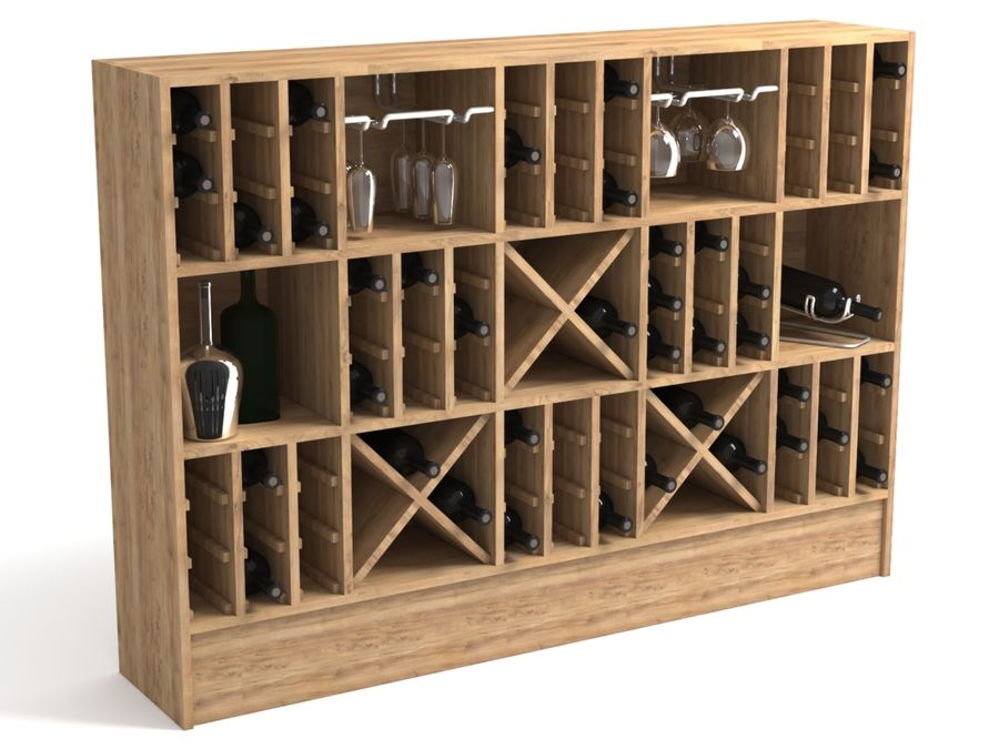 Scaffale del vino royalty-free 3d model - Preview no. 1