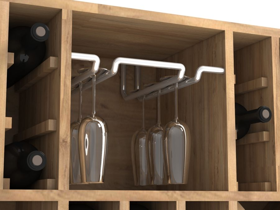 Scaffale del vino royalty-free 3d model - Preview no. 6
