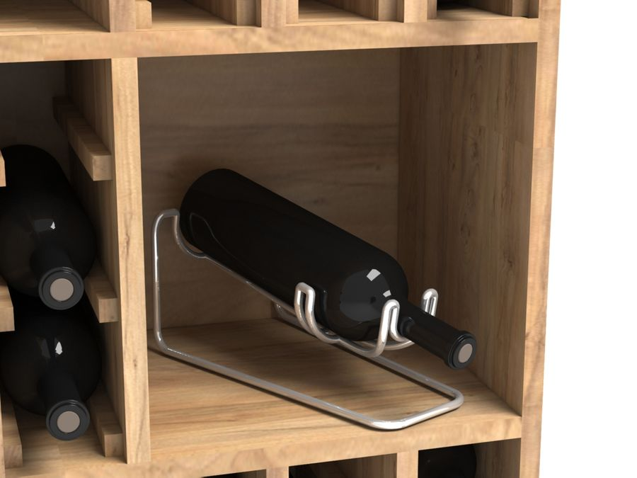 Scaffale del vino royalty-free 3d model - Preview no. 3