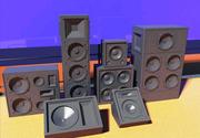 라우드 스피커 칼럼 스피커 3d model