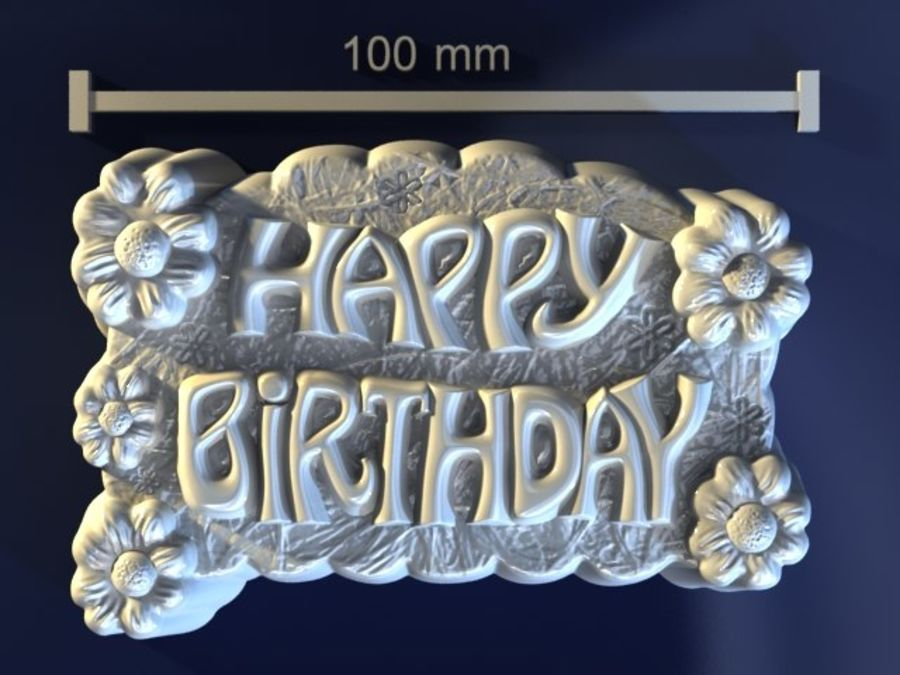 Happy Birthday royalty-free 3d model - Preview no. 1