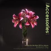Vaas met Lillies en Roses 3d model