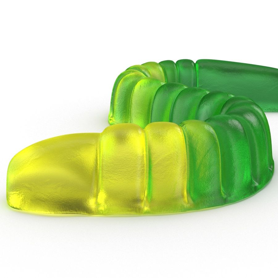 Gummy Worms royalty-free 3d model - Preview no. 11
