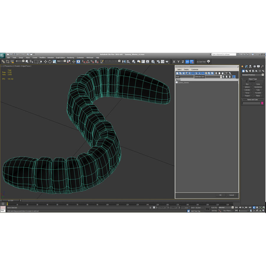 Gummy Worms royalty-free 3d model - Preview no. 25