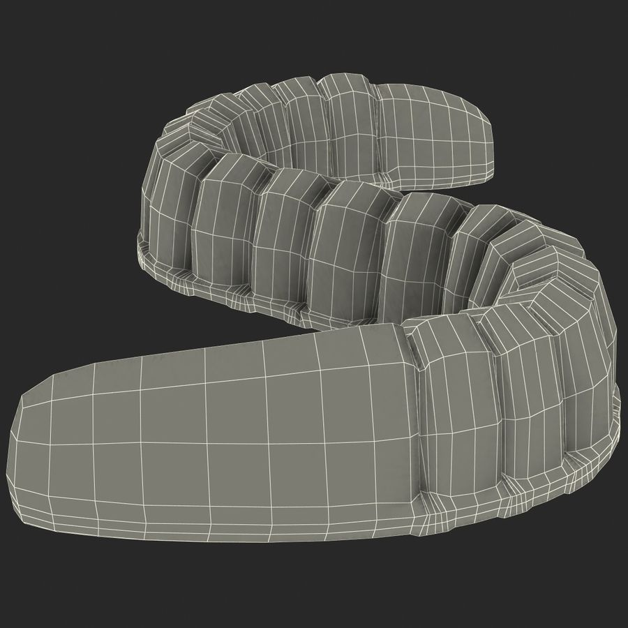 Gummy Worms royalty-free 3d model - Preview no. 14