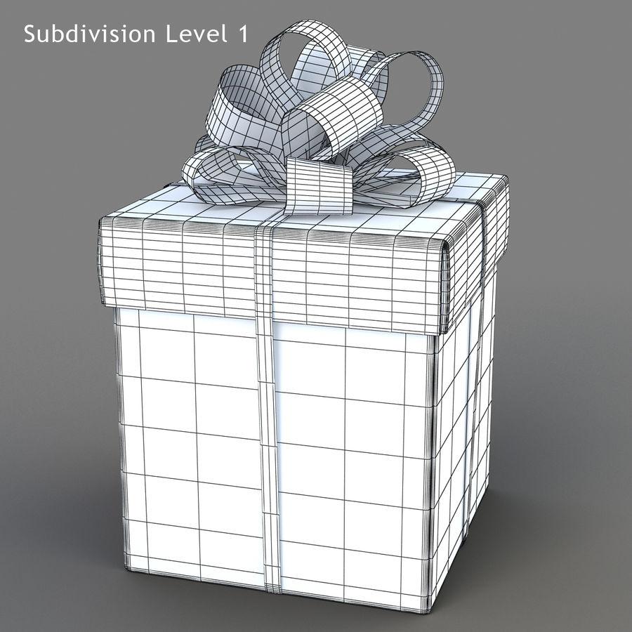 Geschenkboxen (weiß und rot) royalty-free 3d model - Preview no. 16