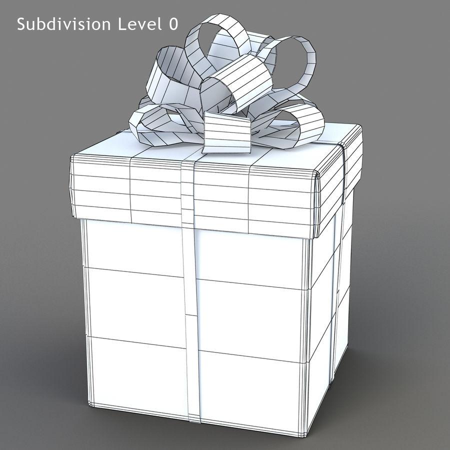 Geschenkboxen (weiß und rot) royalty-free 3d model - Preview no. 15