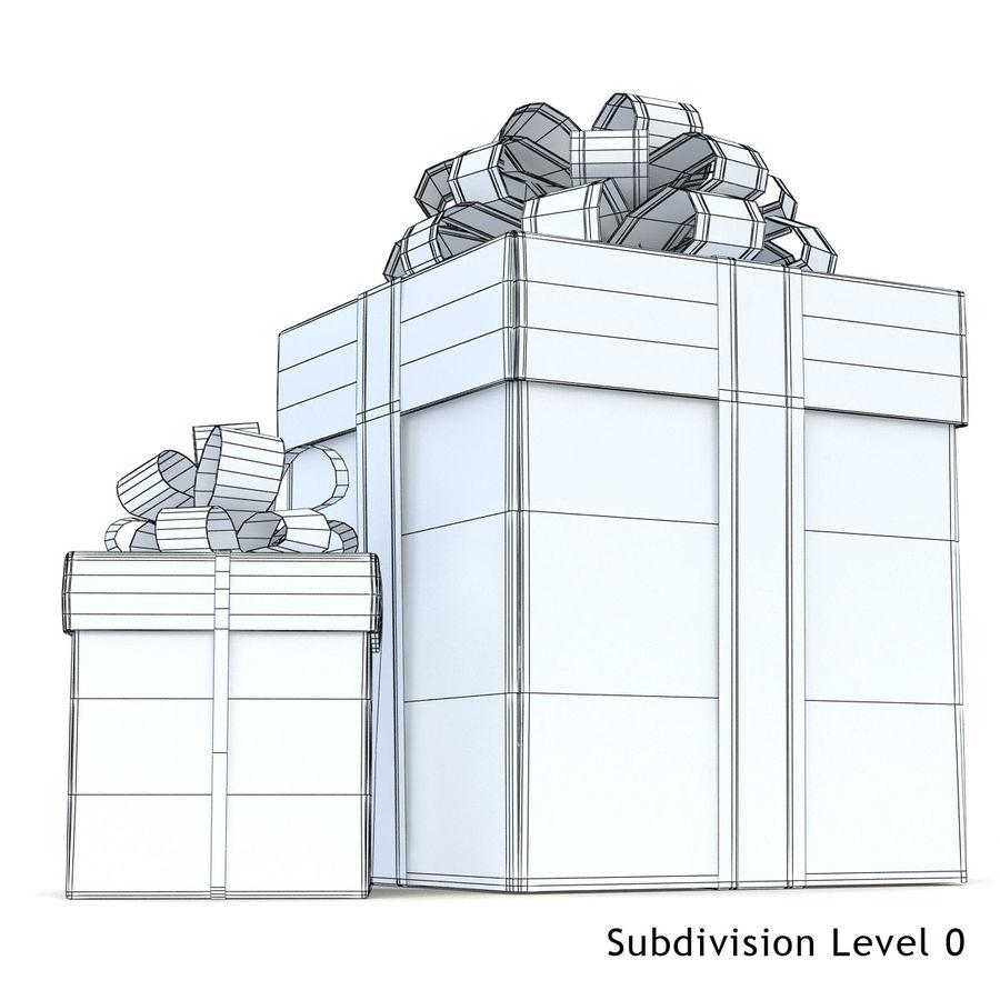 Geschenkboxen (weiß und rot) royalty-free 3d model - Preview no. 3
