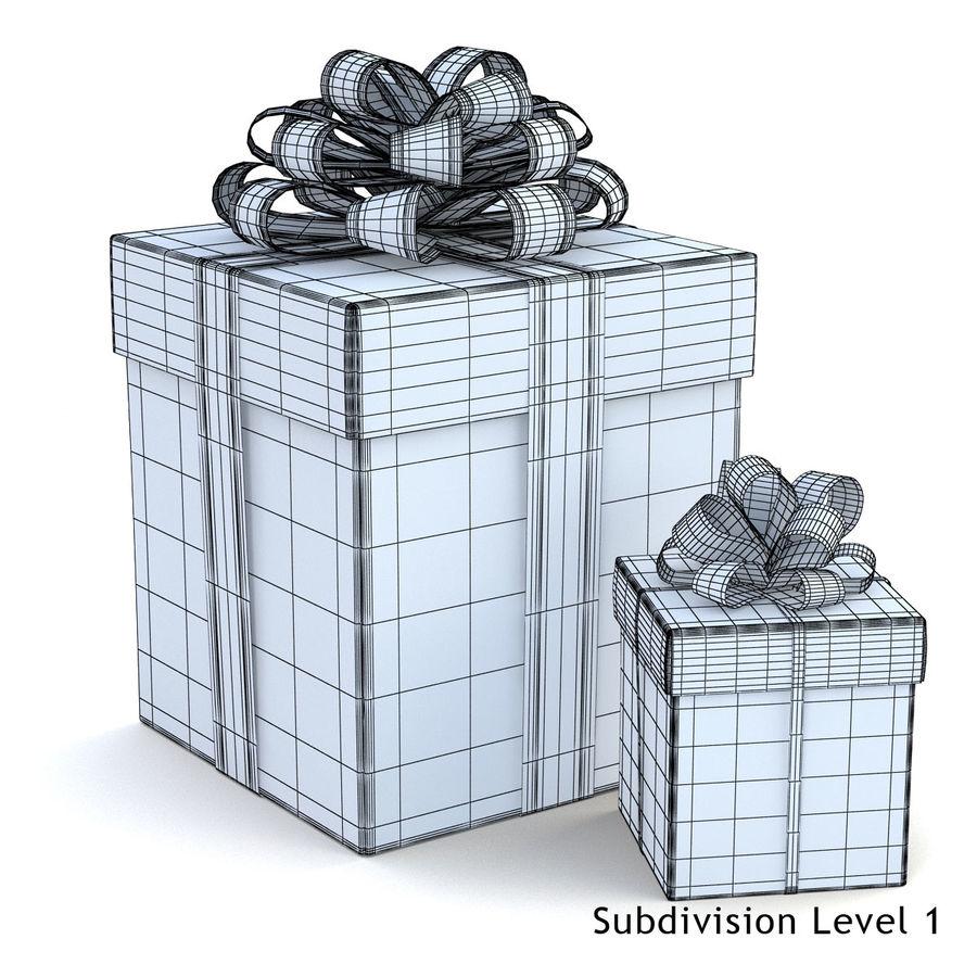 Geschenkboxen (weiß und rot) royalty-free 3d model - Preview no. 2