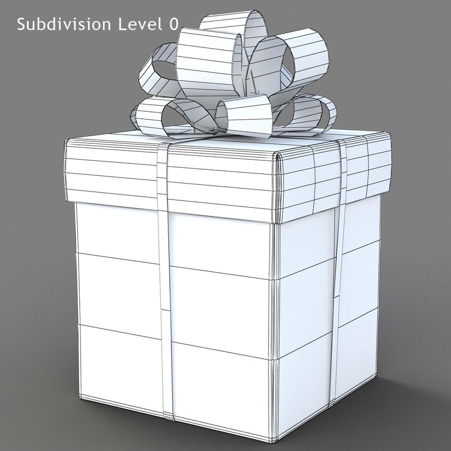 Geschenkboxen (weiß und rot) royalty-free 3d model - Preview no. 17
