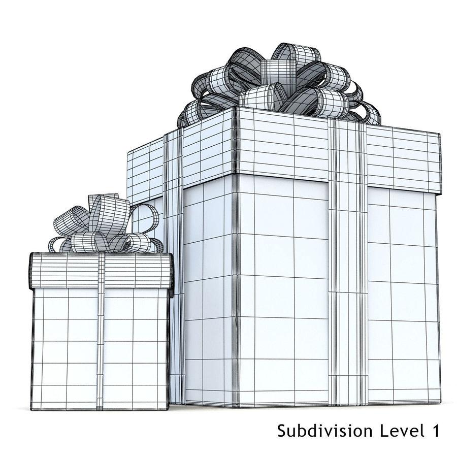Geschenkboxen (weiß und rot) royalty-free 3d model - Preview no. 4