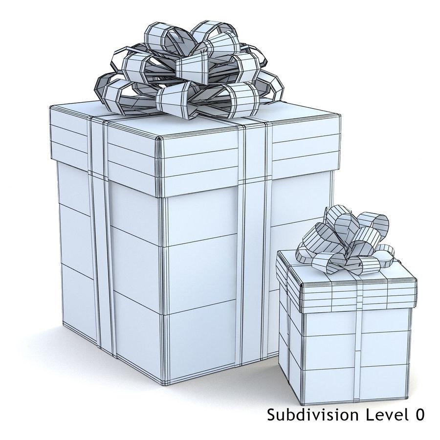 Geschenkboxen (weiß und rot) royalty-free 3d model - Preview no. 1