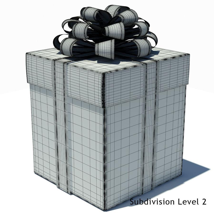Geschenkboxen (weiß und rot) royalty-free 3d model - Preview no. 7
