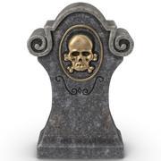 ハロウィーンの墓石01 3d model