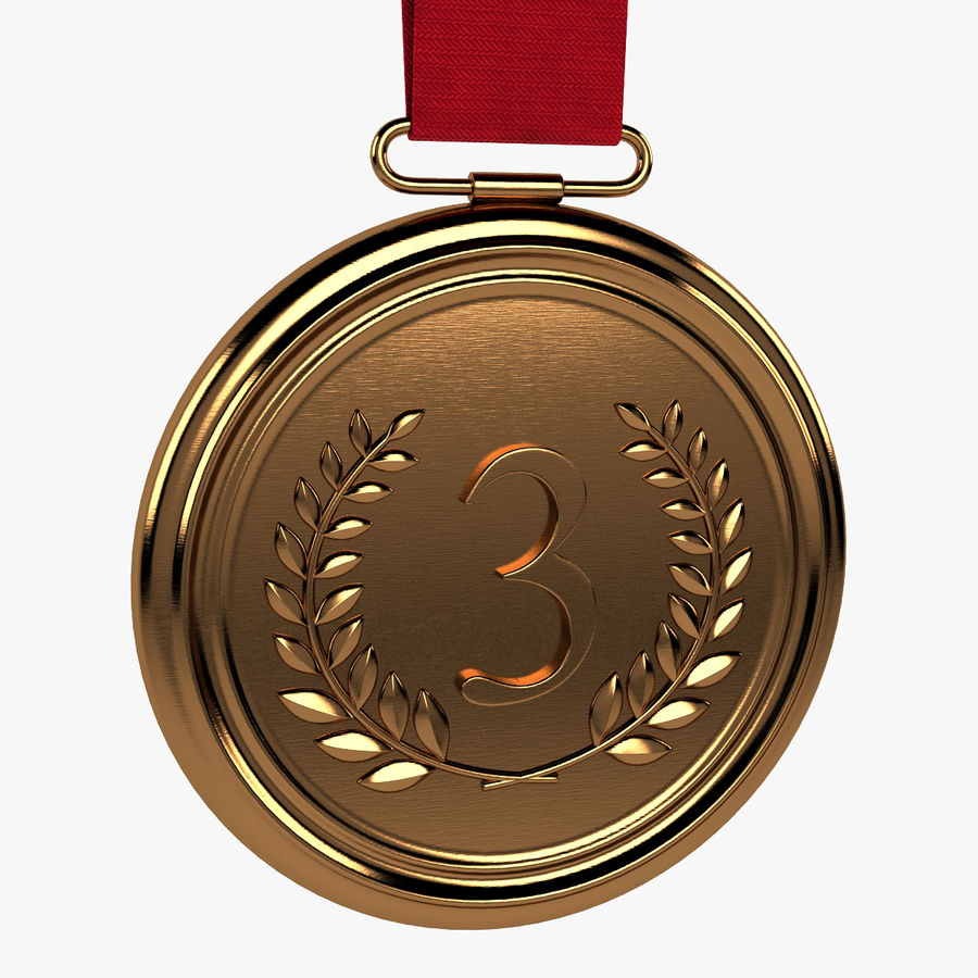 Bronze Medal royalty-free 3d model - Preview no. 1