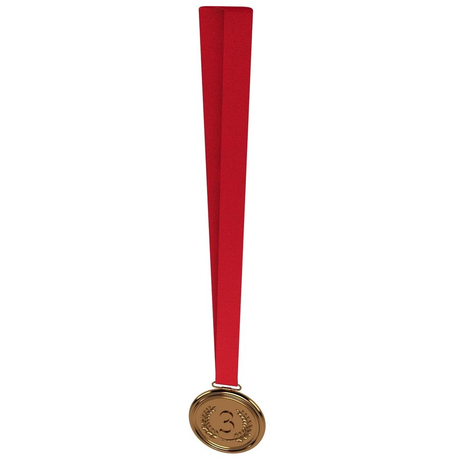 Bronze Medal royalty-free 3d model - Preview no. 5