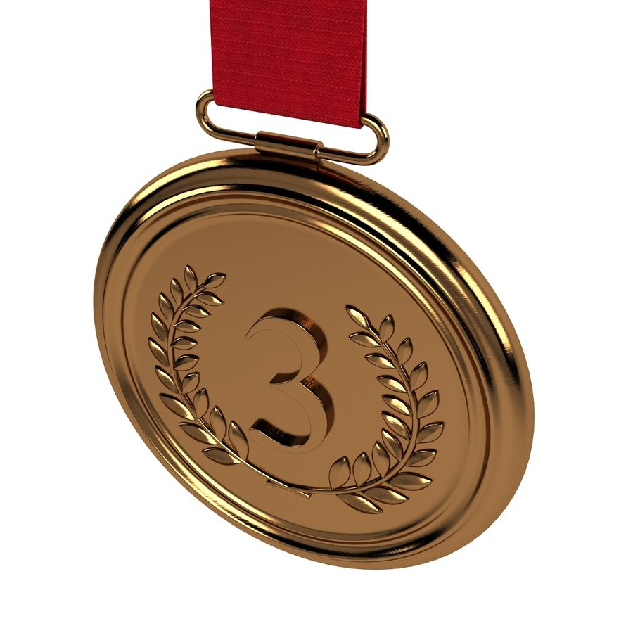 Bronze Medal royalty-free 3d model - Preview no. 2