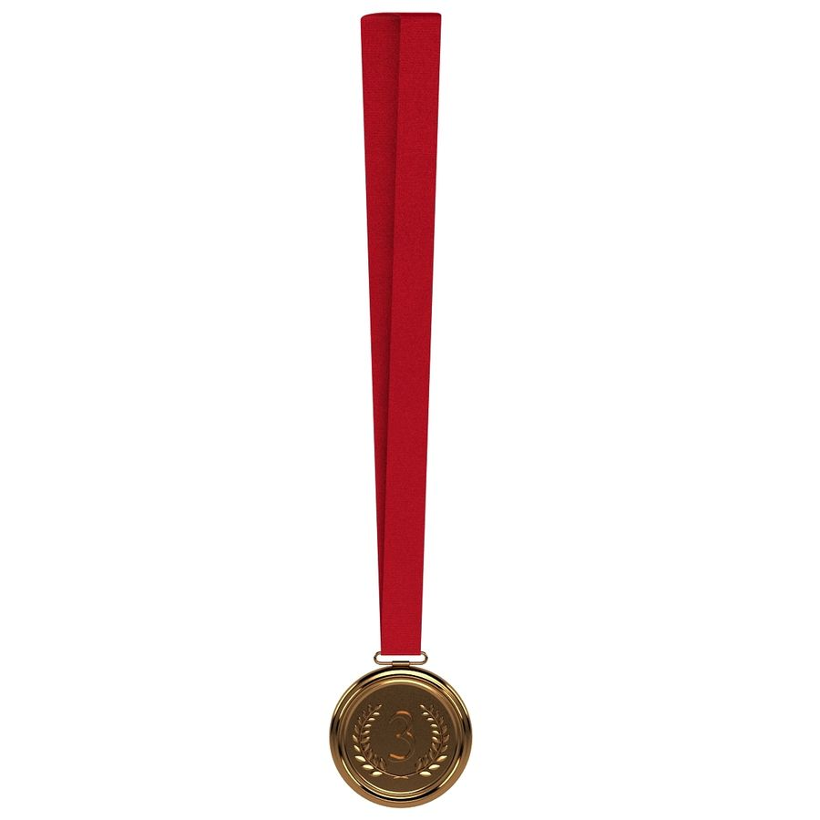 Bronze Medal royalty-free 3d model - Preview no. 4