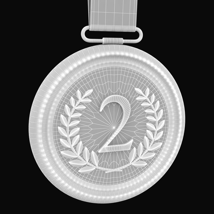 Silver Medal royalty-free 3d model - Preview no. 7