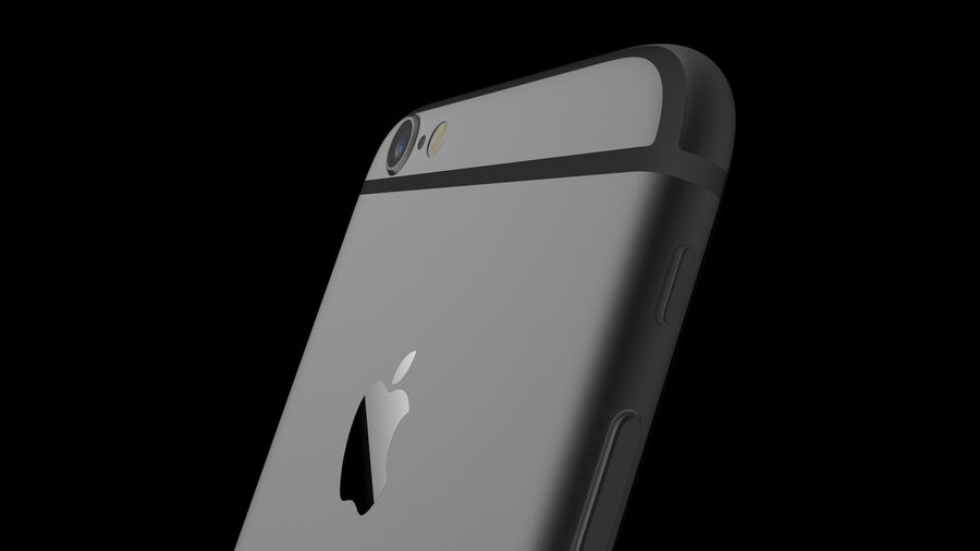 iPhone 6 royalty-free 3d model - Preview no. 13