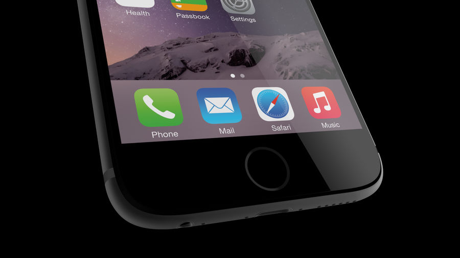 iPhone 6 royalty-free 3d model - Preview no. 15