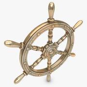 Roue de bateau bronze et or 3d model