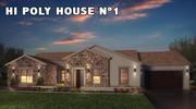 HI POLY HOUSE 1 modelo 3d