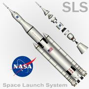 SLS Space Launch System 3d model