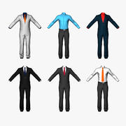 Men Suits Shirts Pants Real-time polygonal 3d model