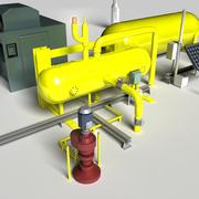 Équipement de pompe à essence 3d model